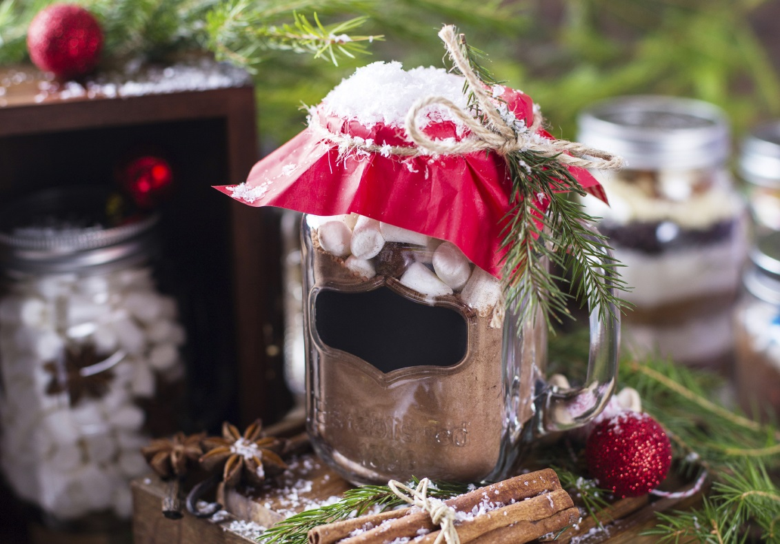Hot cocoa gift jar