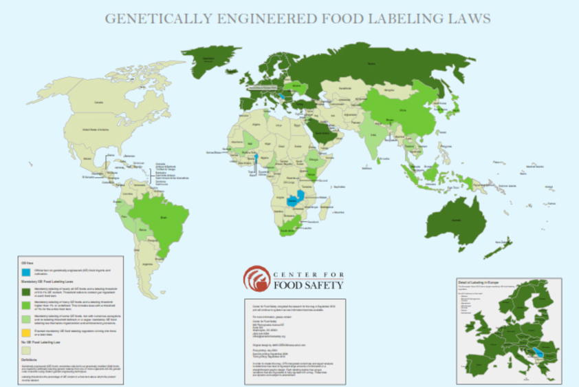 Center For Food Safety Campaigns - Map of the us not labeled