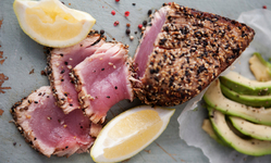 Best Sustainable Summer Seafood Recipe: Spice-Crusted Tuna Steaks with Cilantro and Basil